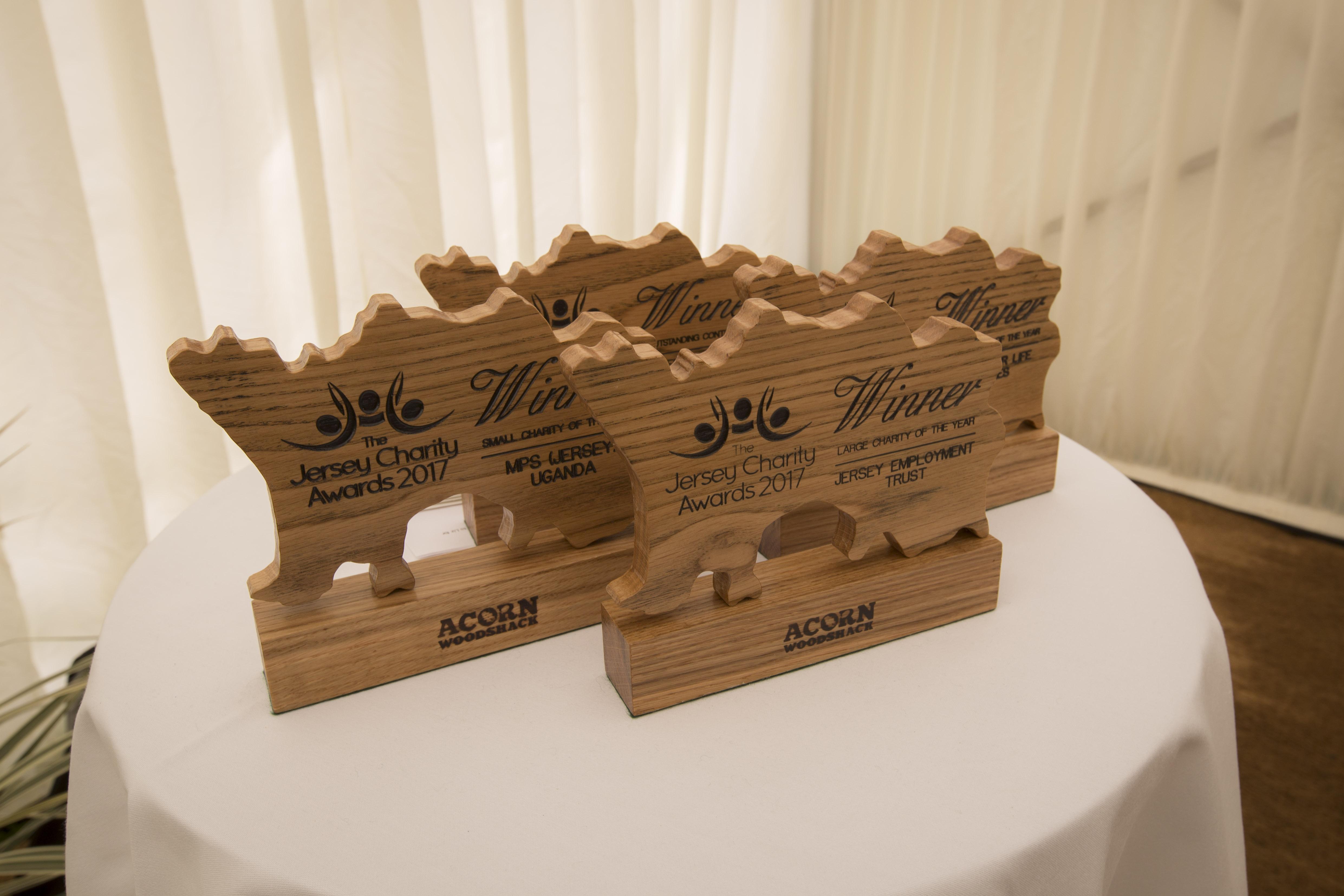 JCA Award trophies 2017